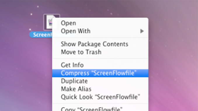 Sending a ScreenFlow Document