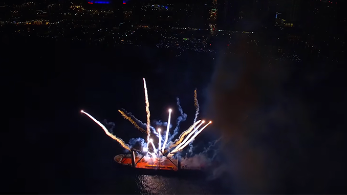 DroneBoy Broadcasts Canada's Largest Fireworks Display with Wirecast